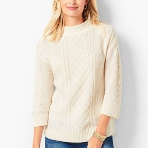 NWT Talbots Cashmere Cable Mockneck Sweater